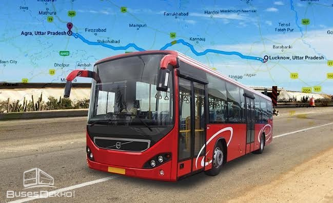 New Volvo Bus Service on Agra Lucknow Highway after January 26